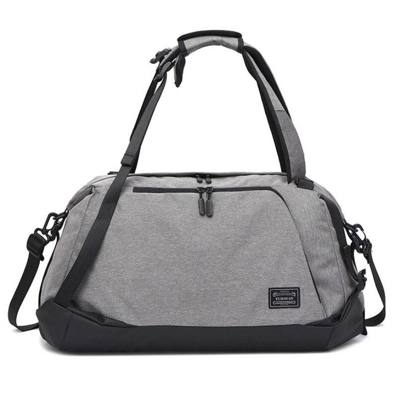 Sac de sport hommes Fitness voyage sac à dos Portable grande capacité sac à main toile sacs imperméables unisexe sac de sport chaussures indépendantes