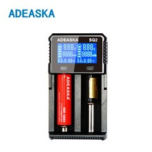 ADEASKA S Q2 Digitale 18650 26650 18350 10440 18500 Ladegerät LCD-Display batteriekapazität test carregador bateria ladegerät
