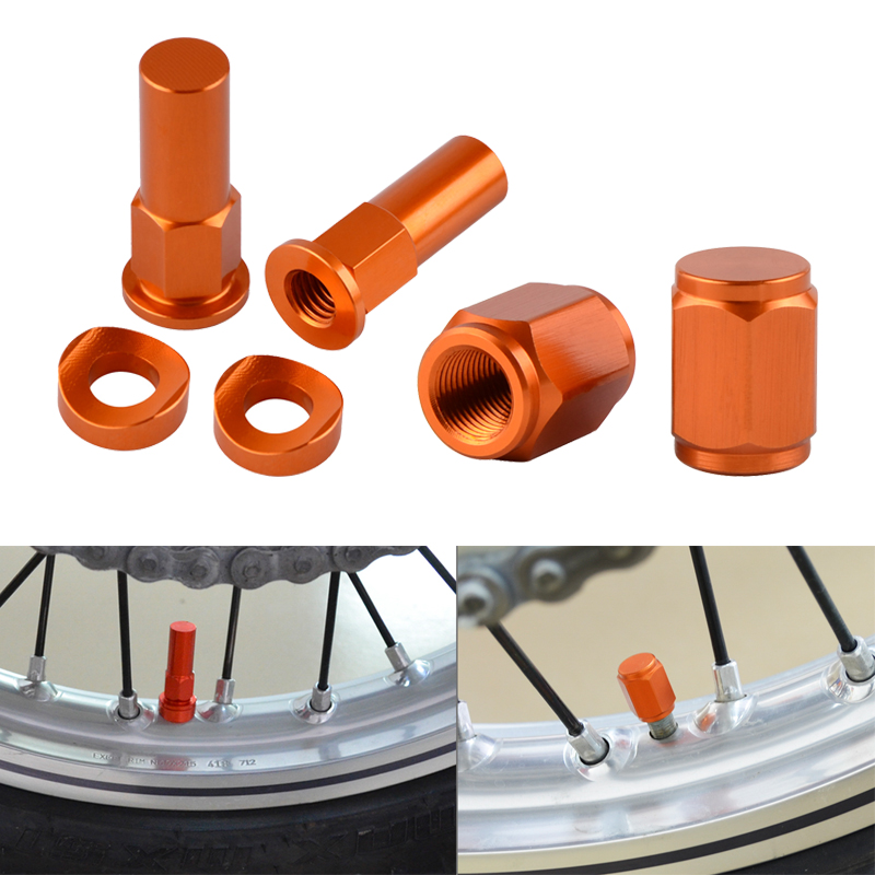 Dirt Bike Rim Lock Nuts Bolts Spacer Motocross Valve Cap For KTM EXC EXCF SX SXF XC XCW XCF 125 150 200 250 350 450 525 530 300(China)
