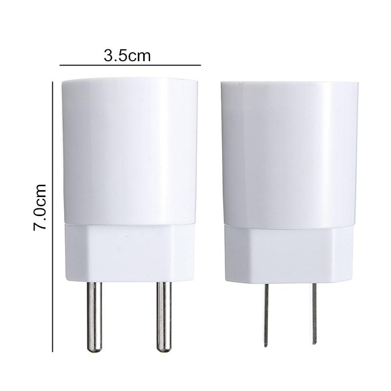 110-220V E27 Lamp Base EU/US Plug Socket 4A Flame Retardant PBT Housing For Led /small Night Light Lamp Holder Converter