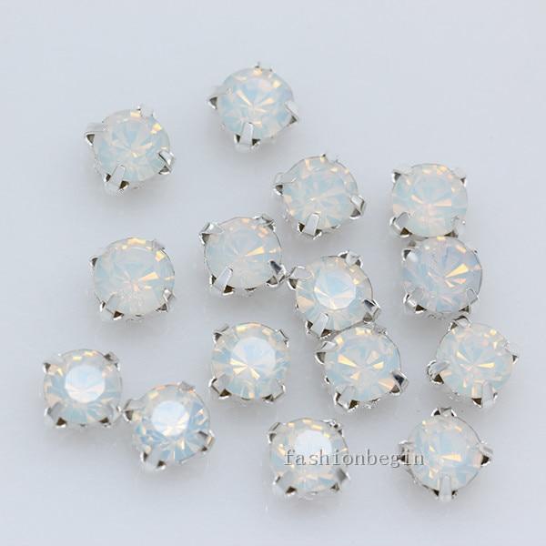 20 Silver Clear Ab Crystal Round Rivoli Rhinestones Glass Rose Montees 10mm 100% Guarantee Beads & Jewelry Making Beads