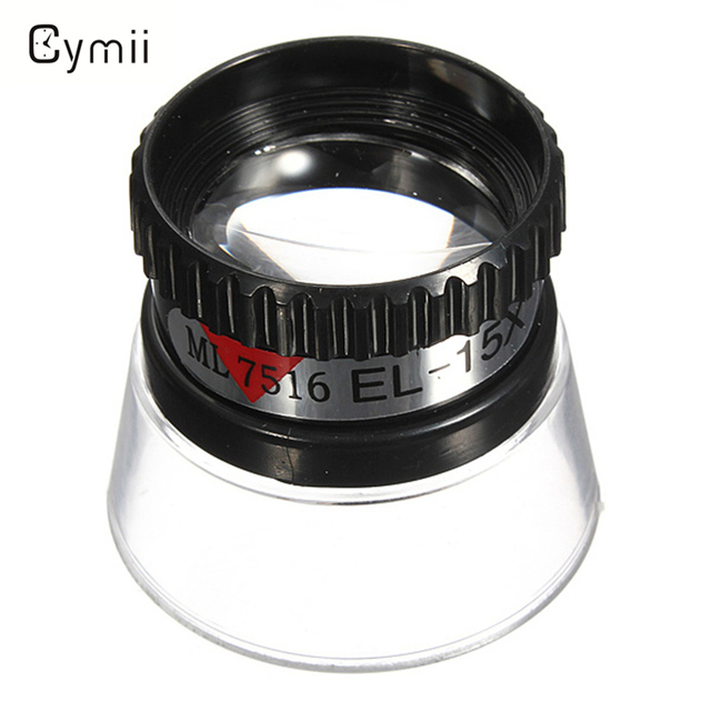 Cymii Best Quality New 15X Monocular Watch Magnifying Glass Loupe Lens Jeweler T