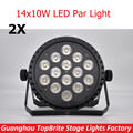 2XLot New 14*10W 5IN1 Led Par Light Cheap Price Good Quality 9 Channels Effect Light 90V-240V Led Stage Lighting Free Shipping