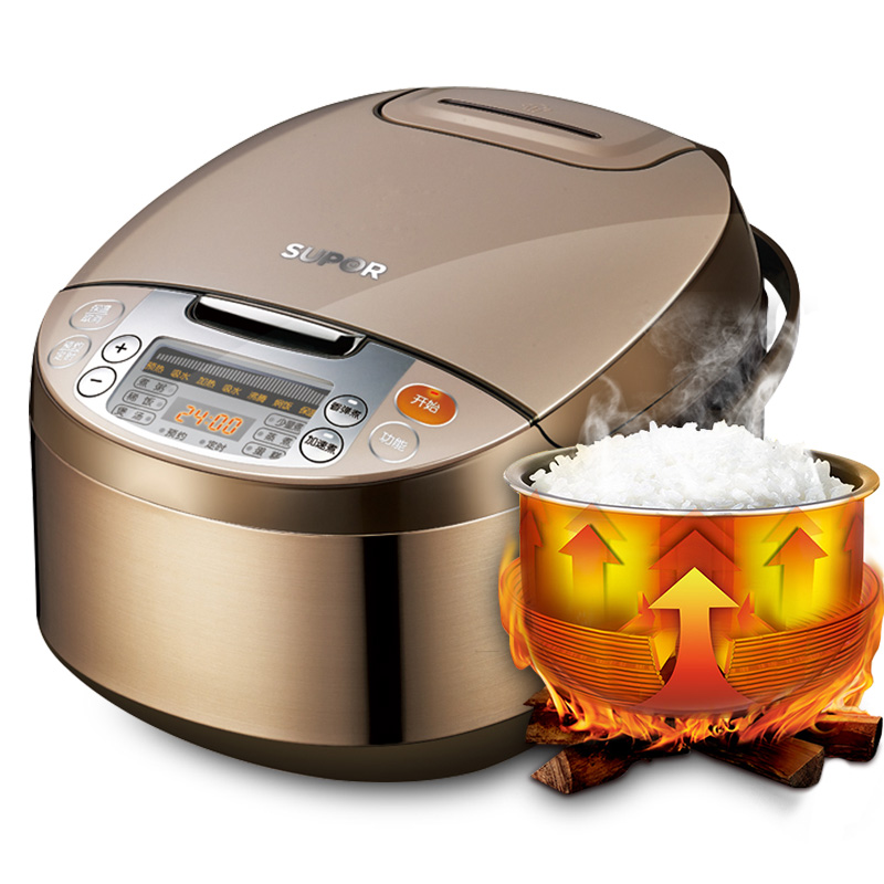 Rice Cooker 4L Intelligent Household 2 6 People Tao Crystal Liner Appointment Timing