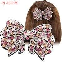Kelebek Tam Kristal Saç Pin Chic Rhinestone Pırıltılı Saç Aksesuarları Özel Düğüm Saç Kadın Kız Saç Dekorasyon FG0059