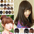 Wholesale free shipping Woman Bangs Lady Hairpiece Clip-on Neat bang Hair Extensions Hair Fringe Sythetic Hair T29
