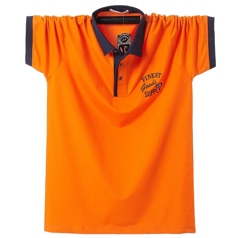 Men Polo Shirt Plus Size 5xl 6xl 7xl Mens Solid Polo Shirts Camisa Homme Men Casual Cotton Shirt Plus Size Business Tops Tees