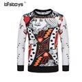 Exclusive!TIANGQIONG printing 2016 New Arrival 3d sweatshirt men 3d hoodies harajuku style funny print Poker K Sweatshirts