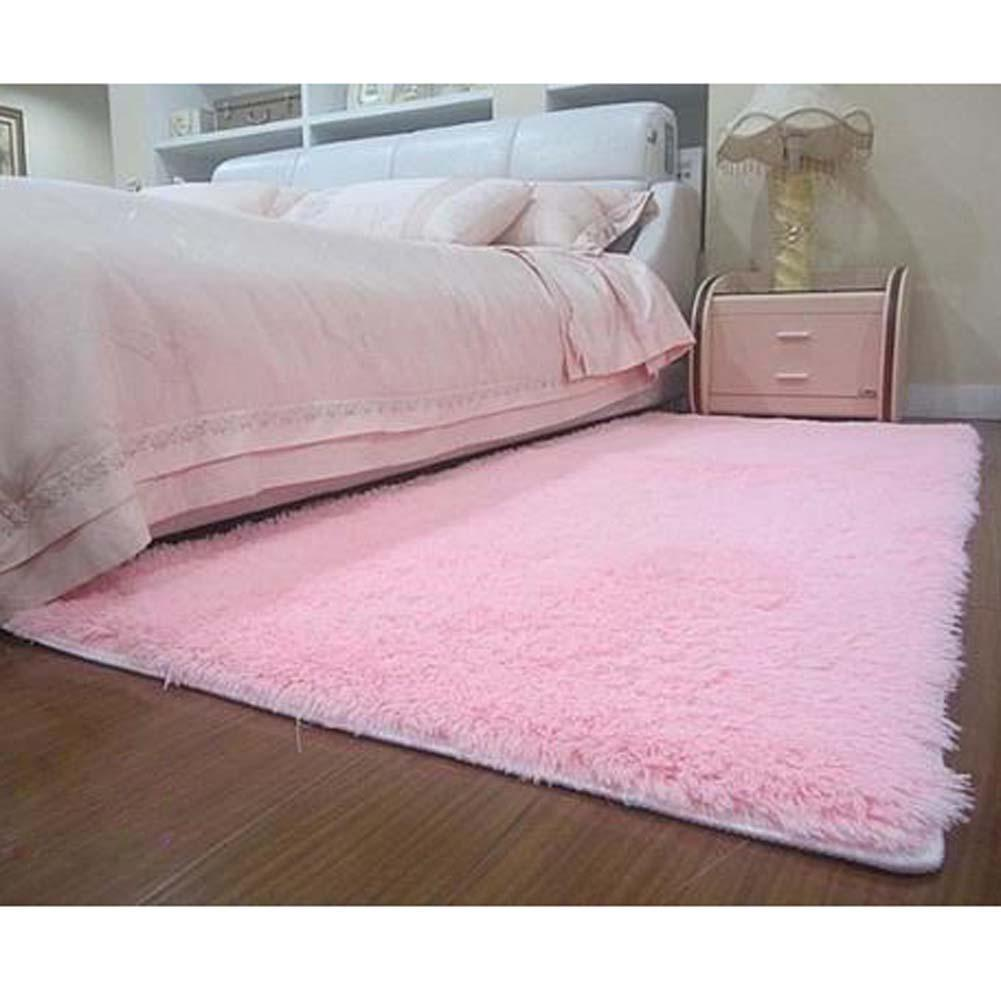 new fluffy rug anti skiding shaggy area rug dining room carpet floor mat pink shaggy rugs shag rugs a609 pmlin carpet from home u0026 garden on - Fluffy Rugs