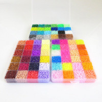 42000pcs 72 Colors Hama Beads Creative 3D Puzzle Fuse Beads Set Tangram Jigsaw Children Educational Toys