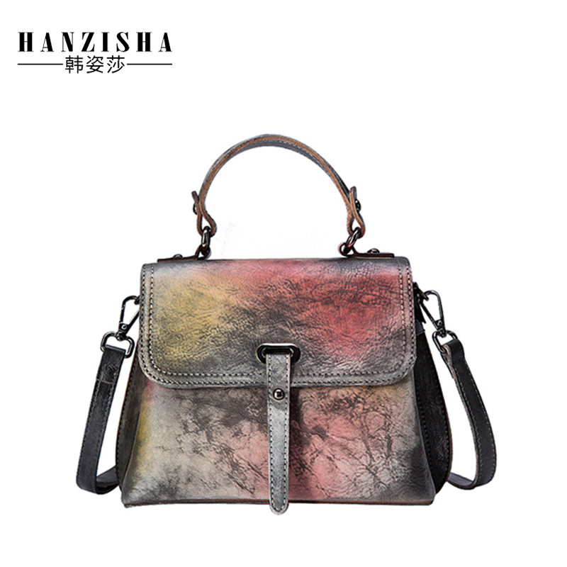 2018 Fashion Brand Genuine Leather Women Handbag Vintage Design Women Messenger Bag Leather Women Shoulder Casual Bag Sac a main hot brand design fashion genuine leather high quality women large messenger bag tote shoulder bag sac a main mujer