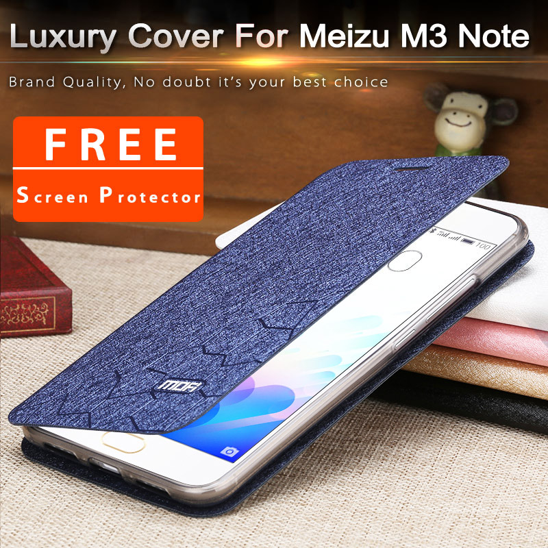 meizu m3 note cover silicon soft flip mofi fundas meizu m3note phone bag 5 5inch meizu
