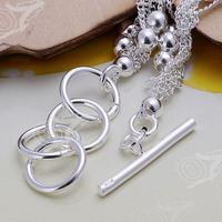 бесплатная доставка оптовых посеребренные браслет, свадебные украшения, аксессуары, мода серебряные шесть строки легкие бусы, браслеты, браслет