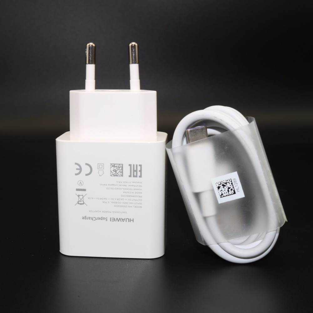 HUAWEI P10 Plus Fast Charger P20&P20 Pro Supercharge Quick Travel Wall Adapter 4.5V5A/5V4.5A Type-C 3.0 USB Cable 1M Original