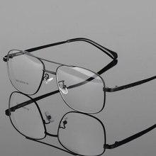 Moda Retrò In Metallo Grande Scatola Rotonda Occhiali Cornice Miopia Degli Uomini Degli Occhiali Ottica di Prescrizione di Doppio Ponte Occhiali
