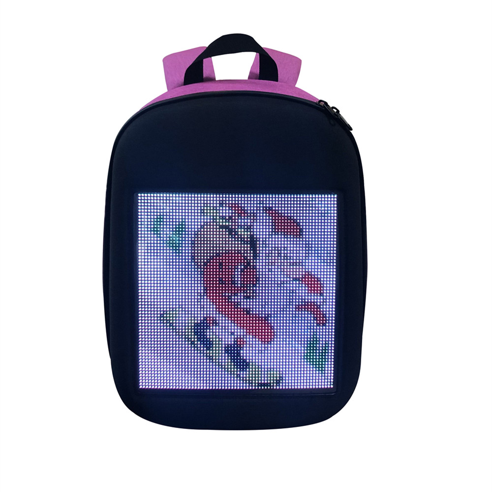 Litake LED Screen Display Backpack DIY Wireless Wifi APP Control Advertising Backpack Outdoor LED Walking Billboard Backpack
