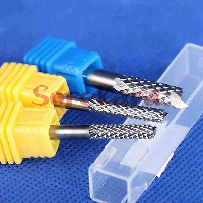 4*25mm Carbide Alloy PCB CNC Engraving Bits End Milling Cutter Cutting Drill Hole Endmill Carving Tools