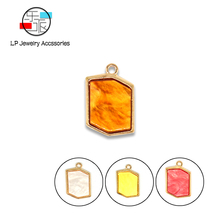 Acrylic geometry pendant handmade jewelry assembly accessories findings earrings necklaces Bracelet making diy 10pcs/lot