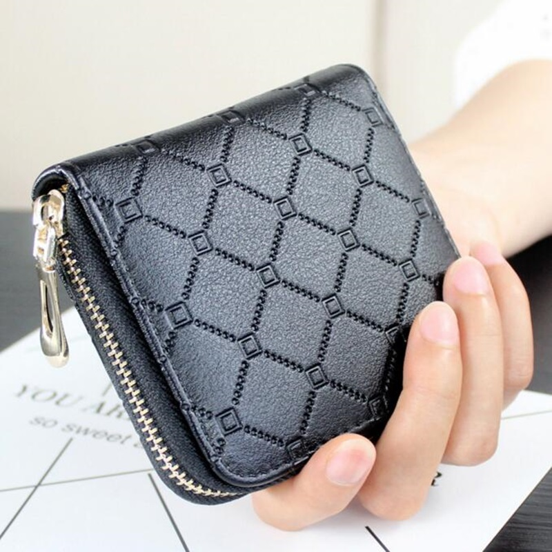 Women Wallets Leather Zipper Mini Coin Purse Ladies Card Holder Short Clutch Wallets Female Money Bag Pochette Carteira Feminina hot sale owl pattern wallet women zipper coin purse long wallets credit card holder money cash bag ladies purses