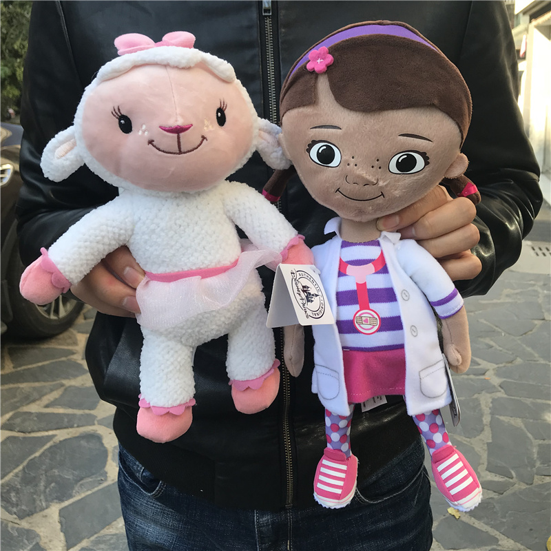 Free Shipping Original Cute Doc McStuffins Doctor Girl And  Lambie Sheep Cute Plush Toys Best Gift For Kids