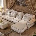 1 + 2 lugares + antigo salão de design em forma de L sofá da tela para sala de estar mobiliário por transporte marítimo de casa endereço