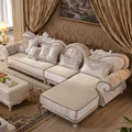 1 +2seat +lounge antique design L shape fabric sofa for living room furniture by sea shipping  home address