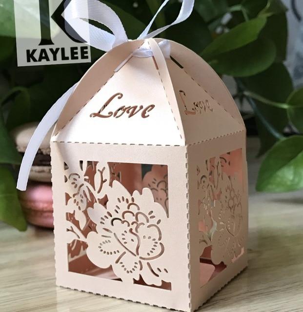 Elegant Flower Design Chocolate Wrapper Box For Valentine Sday