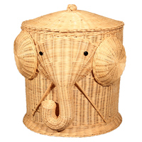 Large Rattan Woven Storage Baskets Cylindrical Clothes Sundries Toys Knitting Ball Storage Rattan Basket Organizer