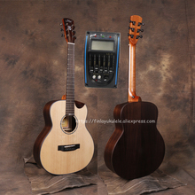36 GSMINI guitar With Solid Spruce top /Rosewood Body,Half cutaway Body,Electric guitarras with pickup tuner,JD-M318SCE