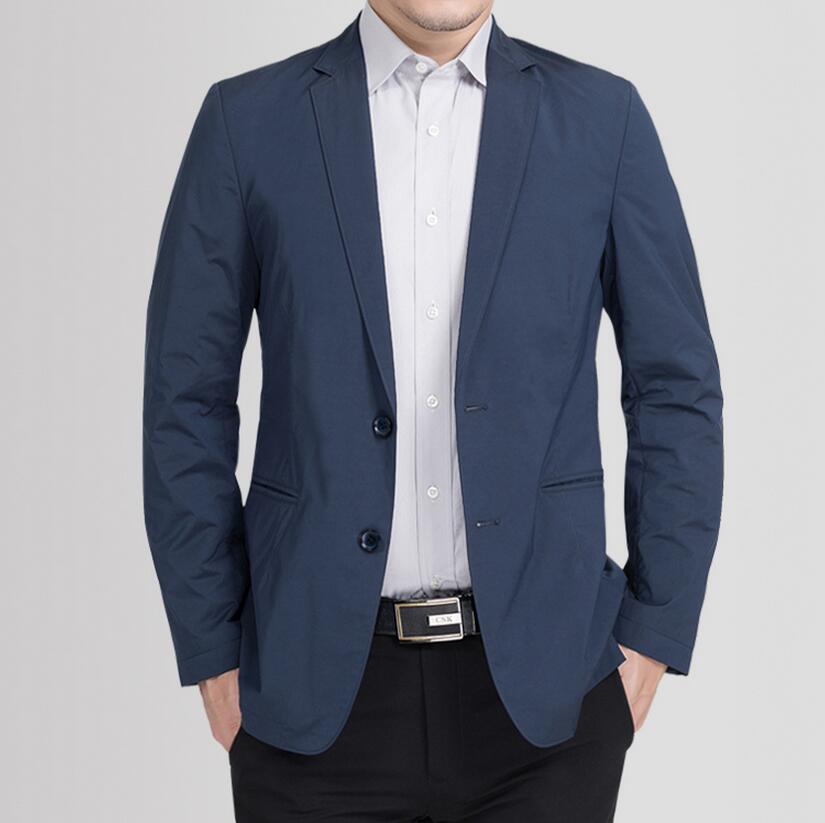 Красивые мужские пальто Две кнопки чистый цвет бизнес и костюм для досуга легкого развлечения партии ужин мужской пиджак