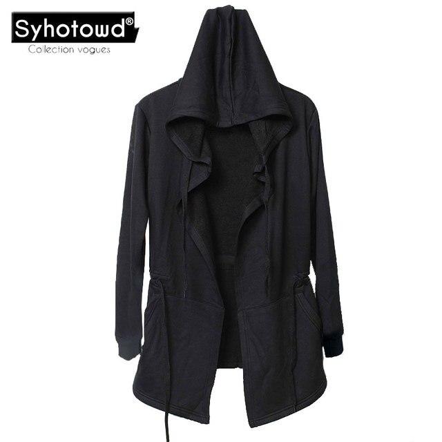Men hooded mantle men\'s hoodies cloak sweatshirts male with big hood ...