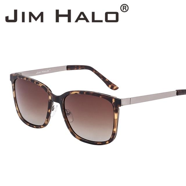 4c534a1f0686 Jim Halo Lightweight Vintage Oversized Square Polarized Sunglasses Gradient  Lens Tortoise Frame Women Men Fashion Sun Glasses