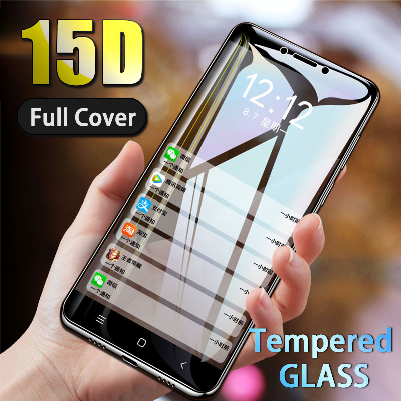 15D Protective Glass On For Xiaomi Redmi 6A 5A 5 6 Pro Plus Screen Protector For Note 5A 4X 5 Pro Full Cover Tempered Glass Film