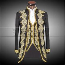 Vstinus nuevos hombres de la marca de trajes de etiqueta photo studio corte disfraz en europa y américa del palacio trajes de ópera ropa