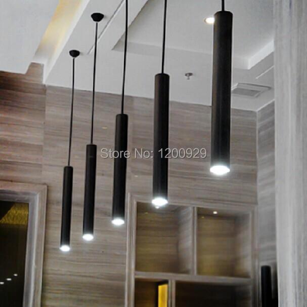 ФОТО 28cm/48cm Free Shipping Modern Nordic Black/Silver Aluminum Long Column Pedant Light for Bar/Living Room Home Lamp PLL-377