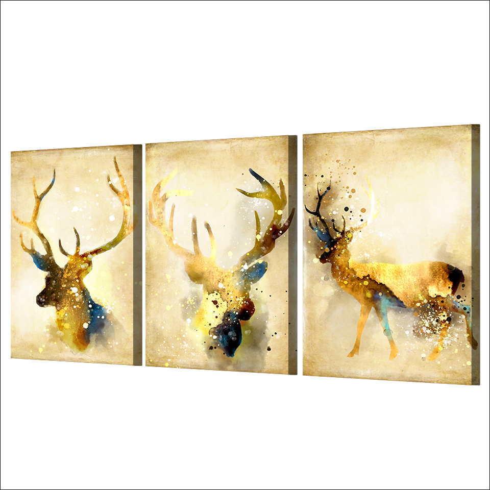 Amazing Stag Wall Art Motif - Wall Art Collections ...