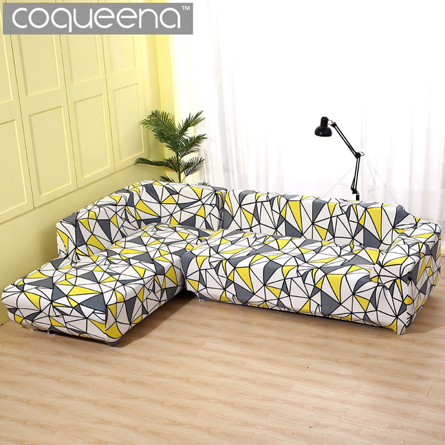 US $34.0 50% OFF|2 pieces Covers for Corner Sofa Chaise Longue Living Room  Sectional Sofa Slipcover Universal Stretch Elastic L Shaped Sofa Cover-in  ...