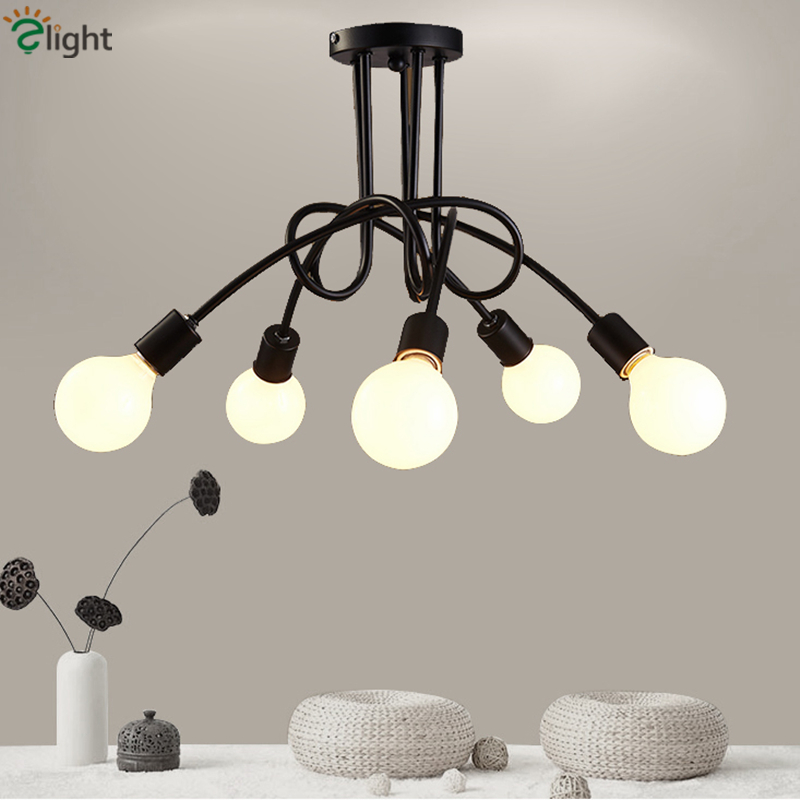 2016 Nordic Modern Simple 3 Head 5 Head Black Iron Chandelier American Pastoral White Cross Chandelier цены