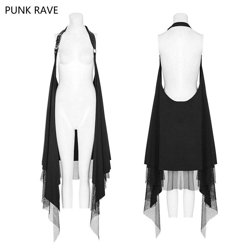 2018 Punk Rave mode all-match tricoté avec filet tissu décontracté femmes Capes châle manteau gothique WY918