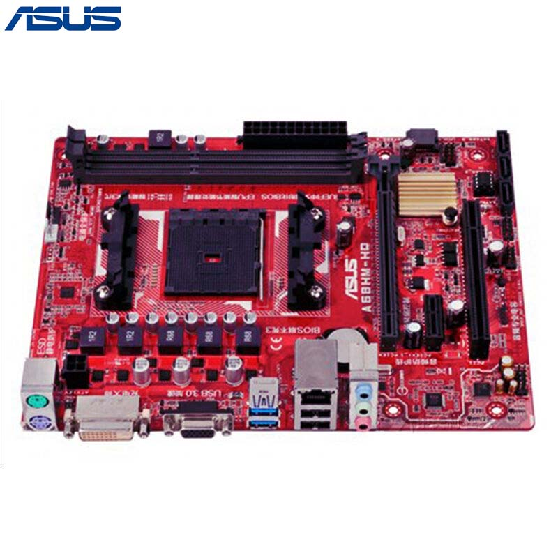 Asus A68HM-HQ Desktop Motherboard AMD A68H Chipset Socket FM2/FM2+ Micro ATX with Free Shipping asus a68hm k