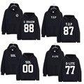 KPOP Bigbang GD TOP Cap Moletom Com Capuz G-Dragão Unisex Hoody Pullover Casaco Com Capuz Sweatershirt Novo Estilo