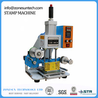 Hot Foil Pneumatic Stamping Press LOGO Printer For Leather Paper Customized Printable