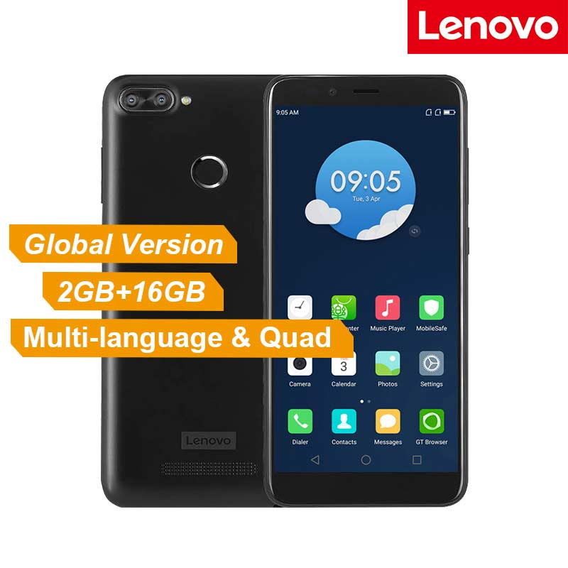 Global Version Lenovo K320t Mobile Phone 5.7 inch Full Screen Android 7.0 4G LTE Smartphone 2GB RAM 16GB ROM Fingerprint 3000mAh