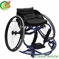 Grande Ancho Deporte en silla de ruedas de baloncesto, marco de aluminio (CE/TUV certificado, hecho en China)