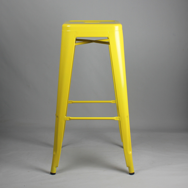 Free Shipping   75cm Powder Coated Stool Yellow Color