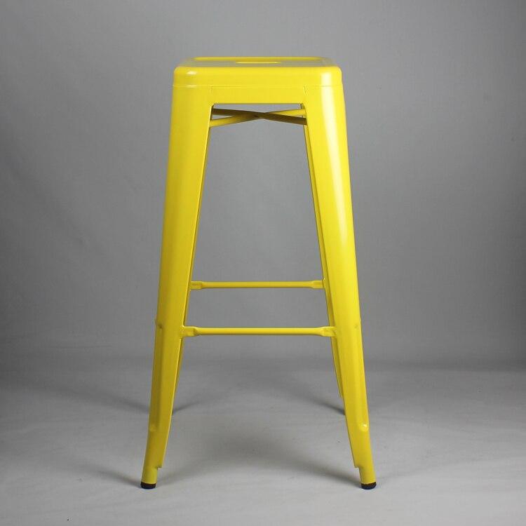 Livraison gratuite 75 cm tabouret enduit de poudre couleur jauneLivraison gratuite 75 cm tabouret enduit de poudre couleur jaune