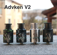 Fast free ship from US 100% Original Mad Hatter V2 RDA by Advken rebuidalble atomizer Velocity style deck