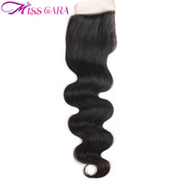 Remy Peruvian Hair Closure Piece 1 Bundle Body Wave Weave 4X4 Lace Closure Lot