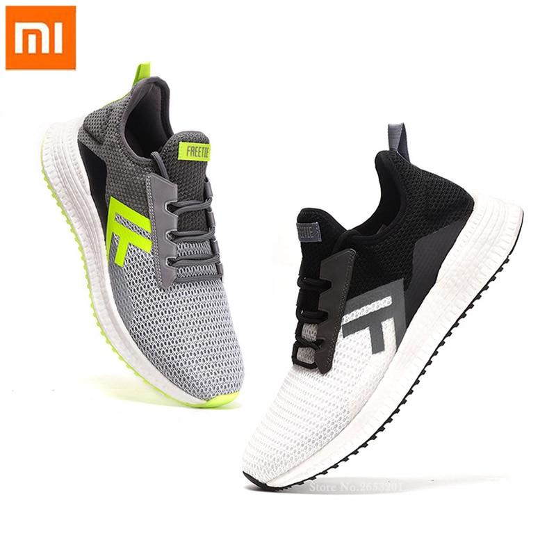 Xiaomi Mija homme décontracté Chaussures De Sport Respirant Maille Élastique Semelle Intermédiaire D'absorption des Chocs Anti-dérapage Chaussures Couture Sport Baskets