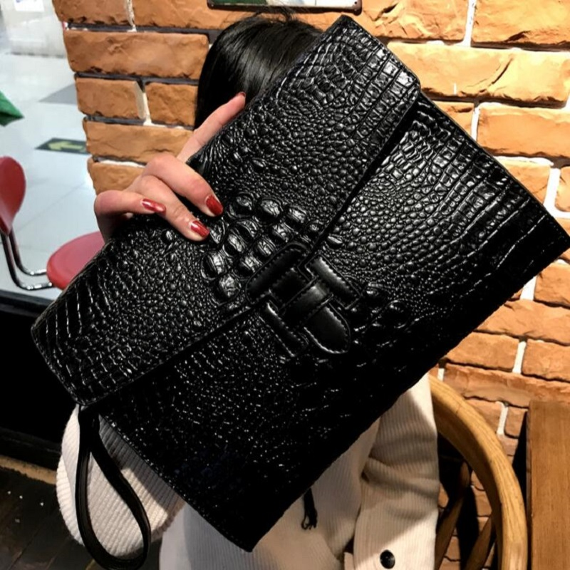 Messenger-Bag Clutch-Handbag Satchels Crocodile Vintage Female Women Envelope for New